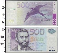 Изображение Боны Эстония 500 крон 2010  UNC- Ласточка