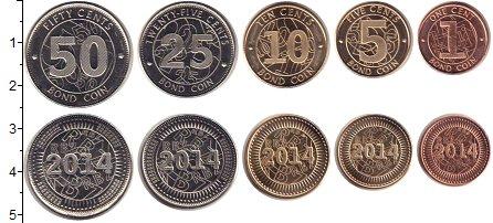 Изображение Наборы монет Зимбабве Зимбабве 2014 2014  UNC- В наборе 5 монет ном