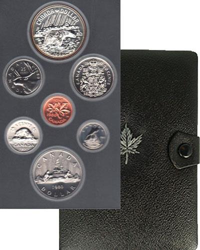 Изображение Подарочные монеты Канада Набор 1980 года 1980  Proof В набор входят монет