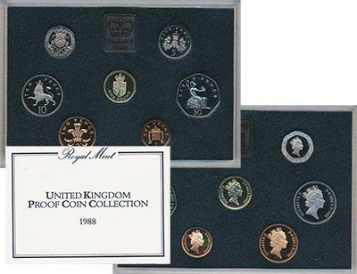 Изображение Подарочные наборы Великобритания Набор 1988 года 1988  Proof