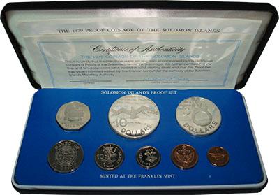 Изображение Подарочные монеты Соломоновы острова Набор 1979 года 1979  Proof В набор входят монет