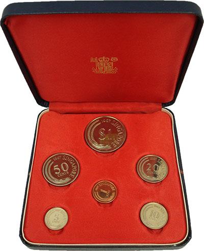 Изображение Подарочные монеты Сингапур Набор 1967 года 1967  Proof В набор входят монет