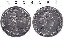 Изображение Монеты Остров Мэн 1 крона 2009 Медно-никель UNC 40 лет первого челов