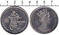 Изображение Монеты Остров Мэн 1 крона 1997 Медно-никель UNC 90 лет мотогонкам се
