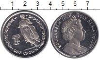 Изображение Монеты Остров Мэн 1 крона 2005 Медно-никель UNC
