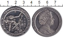 Изображение Монеты Остров Мэн 1 крона 2004 Медно-никель UNC Год обезьяны