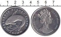 Изображение Монеты Остров Мэн 1 крона 1996 Медно-никель UNC Сохраним планета Зем