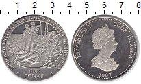 Изображение Монеты Острова Кука 1 доллар 2007 Медно-никель UNC Битва за Тенерифе