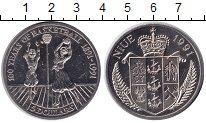 Изображение Монеты Ниуэ 5 долларов 1991 Медно-никель UNC 100 лет баскетболу