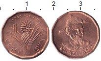 Изображение Монеты Свазиленд 1 цент 1975 Бронза UNC- Ф.А.О.