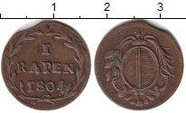 Изображение Монеты Швейцария 1 рапп 1804