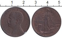 Изображение Монеты Италия Италия 1909 Бронза XF