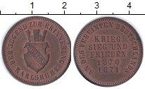 Изображение Монеты Баден 1 крейцер 1871 Медь UNC- Фридрих I .Карлсруэ.