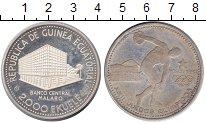 Изображение Монеты Экваториальная Гвинея 2.000 экуэль 1979 Серебро Proof- Олимпийские игры в М
