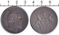 Изображение Монеты Вюртемберг 1 талер 1865 Серебро XF-