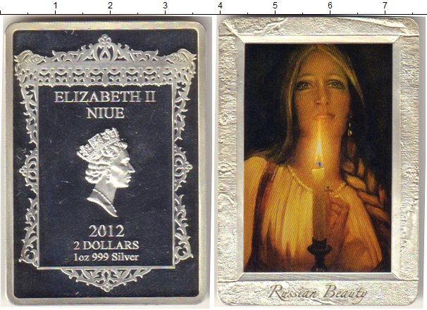 Картинка Подарочные монеты Ниуэ `Картина ``Гадание``` Серебро 2012
