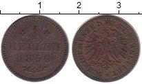 Изображение Монеты Франкфурт 1 геллер 1859 Медь XF