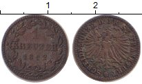 Изображение Монеты Франкфурт 1 крейцер 1862 Медь XF