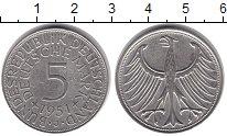 Германия 5 марок 1951 Серебро