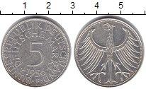 Изображение Монеты Германия 5 марок 1956 Серебро XF