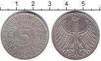 Изображение Монеты Германия 5 марок 1958 Серебро XF