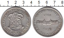 Изображение Монеты ЮАР 5 шиллингов 1960 Серебро XF