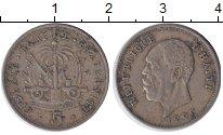 Изображение Монеты Гаити 5 сентим 1905 Медно-никель VF Пьер Норд Алексис