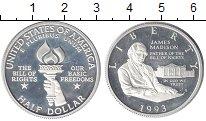 Изображение Монеты США 1/2 доллара 1993 Серебро Proof-