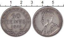 Изображение Монеты Ньюфаундленд 50 центов 1911 Серебро XF