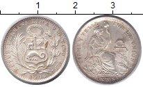 Изображение Монеты Перу 1 динеро 1906 Серебро XF
