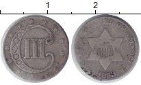 Изображение Монеты США 3 цента 1853 Медно-никель VF
