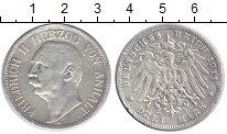 Изображение Монеты Анхальт-Дессау 3 марки 1911 Серебро VF Фридрих II