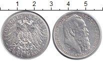 Изображение Монеты Бавария 2 марки 1911 Серебро XF+ 90 лет принц-регенту