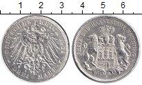 Изображение Монеты Гамбург 3 марки 1911 Серебро VF