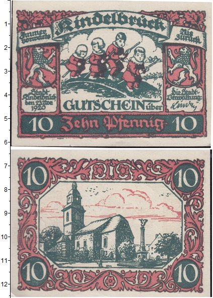 Картинка Банкноты Германия : Нотгельды 10 пфеннигов  1920