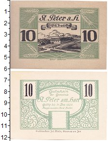 Изображение Банкноты Германия : Нотгельды 10 пфеннигов 0  XF