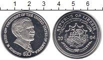 Изображение Монеты Либерия 10 долларов 2004 Медно-никель Proof- 43 -й президент США