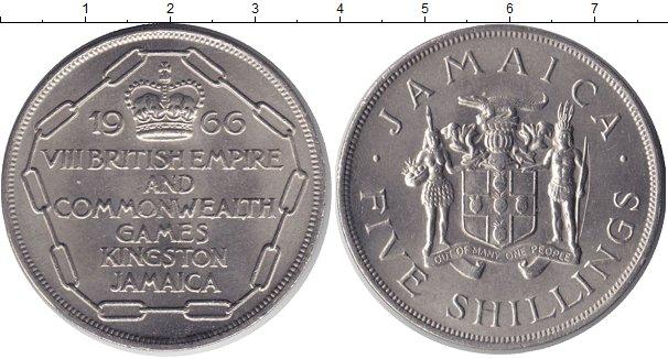 Картинка Монеты Ямайка 5 шиллингов Медно-никель 1966