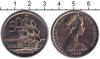 Изображение Монеты Новая Зеландия 50 центов 1969 Медно-никель UNC