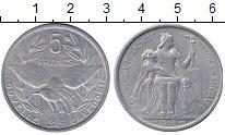 Изображение Монеты Франция Новая Каледония 5 франков 1952 Алюминий XF