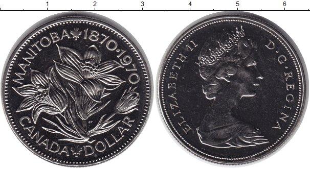 Картинка Монеты Канада 1 доллар Медно-никель 1970