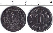 Изображение Монеты Веймарская республика 10 пфеннигов 1919 Железо XF Нотгельд. Обервезель