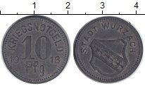 Изображение Монеты Веймарская республика 10 пфеннигов 1918 Цинк XF Нотгельд. Вюрцах