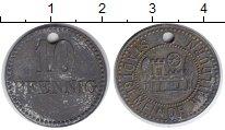 Изображение Монеты Веймарская республика 10 пфеннигов 1918 Цинк VF Нотгельд. Вальдюрн