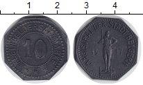 Изображение Монеты Веймарская республика 10 пфеннигов 1917 Цинк XF Нотгельд. Бельгерн