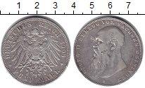 Изображение Монеты Саксен-Майнинген 5 марок 1908 Серебро VF+ Георг II.