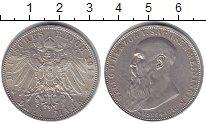 Изображение Монеты Саксен-Майнинген 3 марки 1915 Серебро XF Георг II.