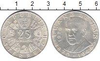 Изображение Монеты Австрия 25 шиллингов 1970 Серебро XF 100 - летие со дня р