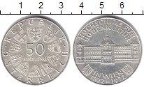 Изображение Монеты Австрия 50 шиллингов 1972 Серебро XF 100 - летие Институт