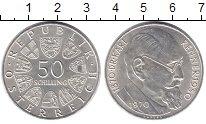 Изображение Монеты Австрия 50 шиллингов 1970 Серебро XF 100 - летие со дня р